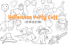 Halloween Party Cats Digital Stamps example image 1