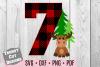 Seven Moose Buffalo Plaid Birthday Set SVG example image 1