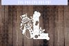 Snowman Font L Paper Cut Template, Winter Cutting SVG, DXF example image 1
