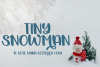 Tiny Snowman - A Cute Hand-Lettered Font example image 1