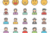 110 Avatars & Emoticons Filled Line Icons example image 2