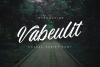 Vabeulit script font example image 1
