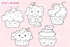 Kawaii Cupackes Digital Stamps example image 2