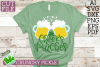 Cheers Pinches St. Patrick Clover Beer Mugs SVG Cut File example image 1