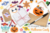 Halloween Candy Clipart, Instant Download Vector Art example image 4