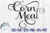 Corn Meal Label, Kitchen, Pantry, Cut File example image 1