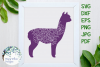 Alpaca Mandala Animal Zentangle SVG example image 1