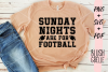 Sunday Nights Are For Football - PNG, SVG, PDF example image 1