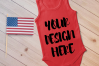 4th July Singlet Baby Bodysuit Mockups - 7 example image 6