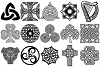 Celtic Symbols, Knots & Crosses AI EPS PNG, Irish Clip Art example image 2