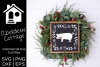 Farmhouse Christmas Pig SVG example image 1