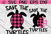 Save The Turtles - SVG PNG EPS DXF example image 1