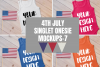 4th July Singlet Baby Bodysuit Mockups - 7 example image 1