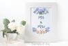 Blue Peach Daisy Flowers Sublimation Transfer Clipart Bundle example image 6