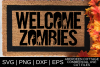 Welcome Zombies SVG example image 1