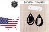Earrings Template - Indiana Teardrop Earrings Svg example image 1