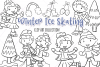 Winter Ice Skating Digital Stamps example image 1