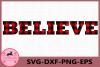 Believe svg, Believe Buffalo Plaid Svg, Christmas svg example image 1
