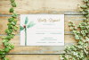 Greenery Wedding Invitation Template Set, Botanical example image 4