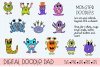 Doodle Monsters - Cricut & Silhouette Cut Files example image 1