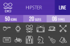 50 Hipster Line Inverted Icons example image 1
