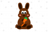 Easter Bunny Carrot SVG File example image 1