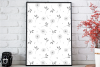 Doodle Floral Pattern, A1, SVG example image 3
