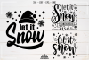 Let It Snow Winter Christmas Svg Design example image 1