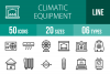 50 Climatic Equipment Line Icons example image 1