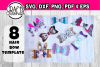 Hair bow template bundle #2 - hairbow svg files - diy bows example image 1