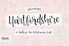 Hartfordshire, a shabby chic farmhouse font example image 1
