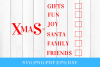 Xmas Checklist SVG File For Cricut example image 1