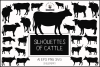 Silhouettes of cattle example image 1