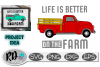 Life is better on the Farm - A Red Truck SVG for cutting example image 1