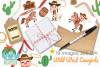 Wild West Cowgirls Clipart, Instant Download Vector Art example image 4