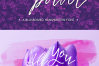 Flower Power script font example image 2