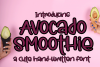 Avocado Smoothie - A Fun Hand-Written Font example image 1