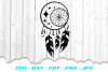 Dream Catcher Celestial Feathers SVG DXF Cut Files example image 2