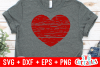 Distressed Heart   Valentine's Day Cut File example image 2