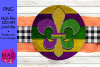 Mardi Gras - Round Door Hanger Sign example image 1