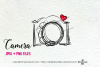 camera clipart - red heart example image 2