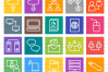 50 Networking Line Multicolor B/G Icons example image 2
