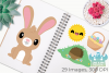 Easter Rabbits Clipart, Instant Download Vector Art example image 3