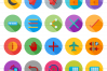 110 Mobile Apps Flat Long Shadow Icons example image 2