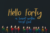 Hello Forty - A Hand-Written Script Font example image 1