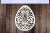 Easter Egg Papercut Template, Spring Decor, SVG, PDF, DXF example image 3