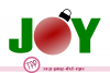 Christmas svg, Joy svg, Holiday svg, Ornament example image 1