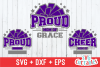 Proud Cheer   SVG Cut File example image 1