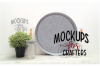 Round Metal Tray Mock-Up example image 1