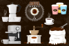 Coffee house emblem and items illustration. example image 1